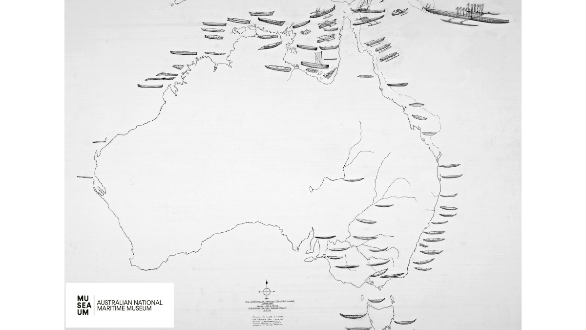National distribution and typology map of Indigenous watercraft