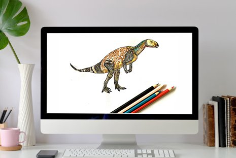 Online workshop: palaeo-art