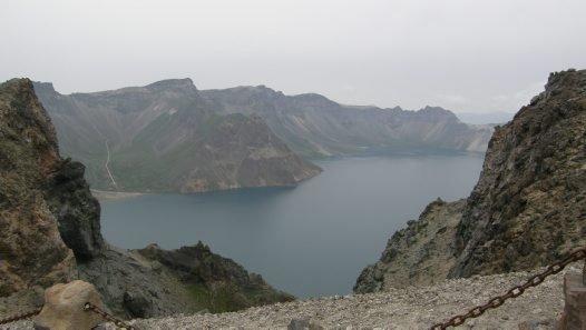 Paektusan Volcano, China.