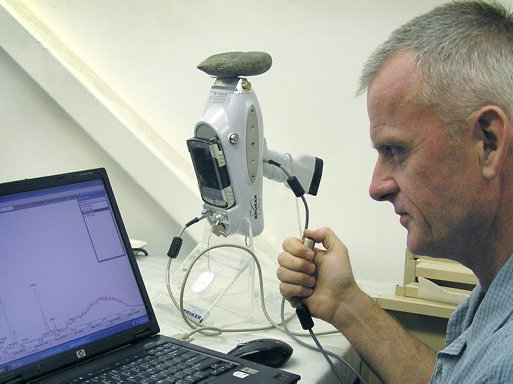 Peter Grave using PXRF