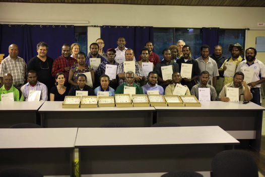 Participants in PNG Entomology course