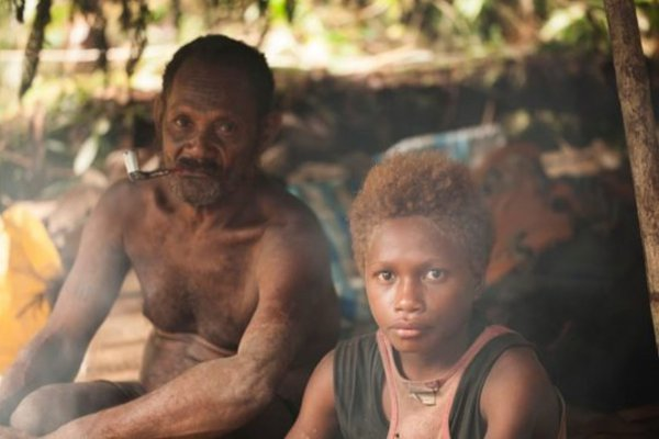 Resting during the daytime on Mt Tolobusu, Solomon Islands
