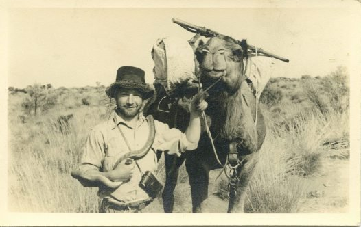Harold Fletcher in the Simpson Desert
