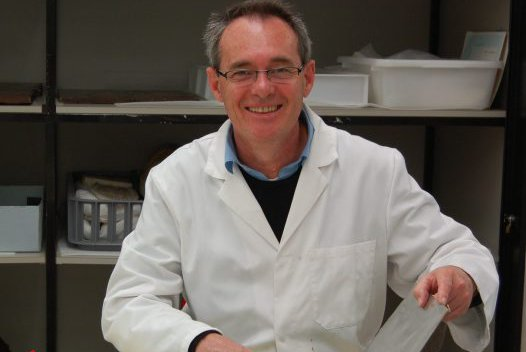 Michael Kelly in the Materials Conservation Lab