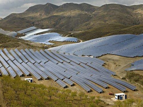 Photovoltaic power plant near Almeria in South Spain