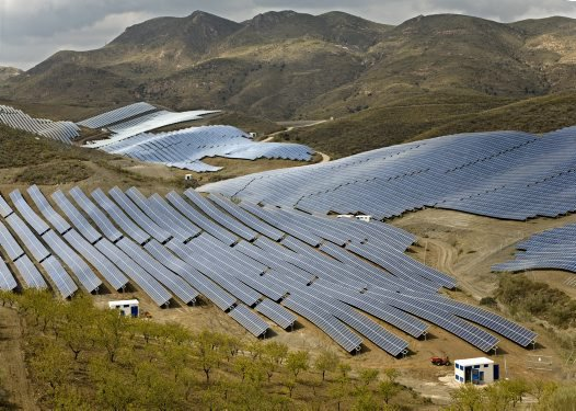 Photovoltaic power plant near Almeria in South Spain