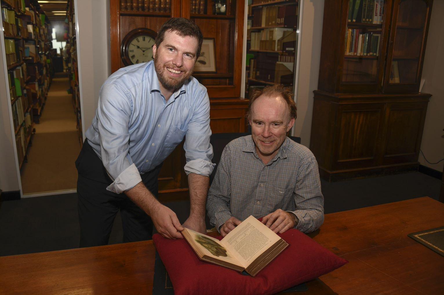 Professor Kristofer Helgen and Dr Stephen Jackson at the AM.