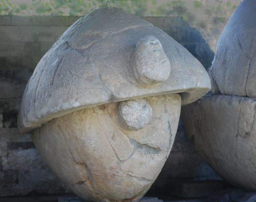 A tortoise sarcophagus
