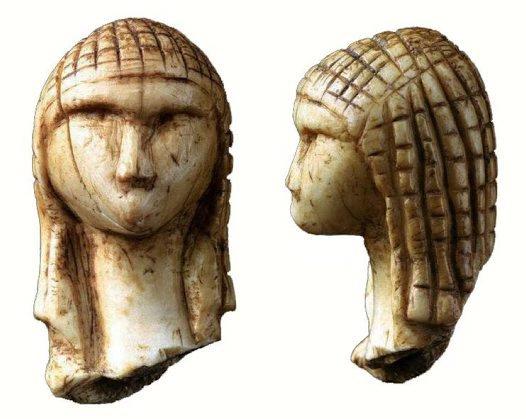 Palaeolithic female head