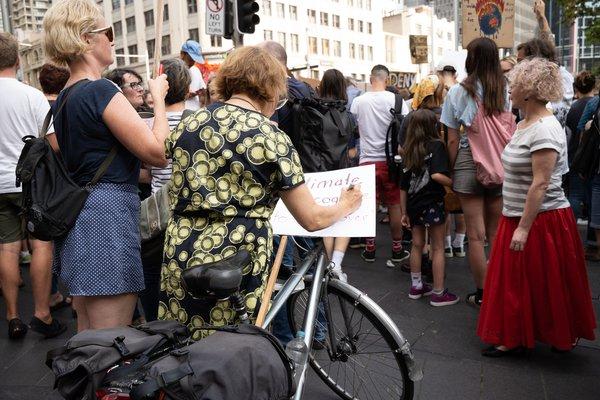 Sydney CBD climate protest
