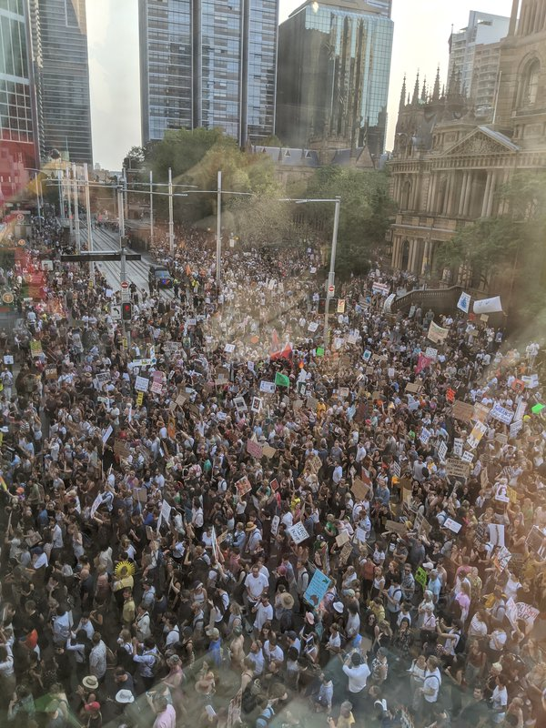 A fraction of the crowd at the Climate Protest, Sydney 10 January 2020