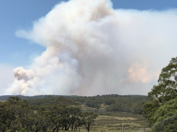Pyro Cumulus…the out of control bushfires of the Numeralla River valley in south-eastern NSW.
