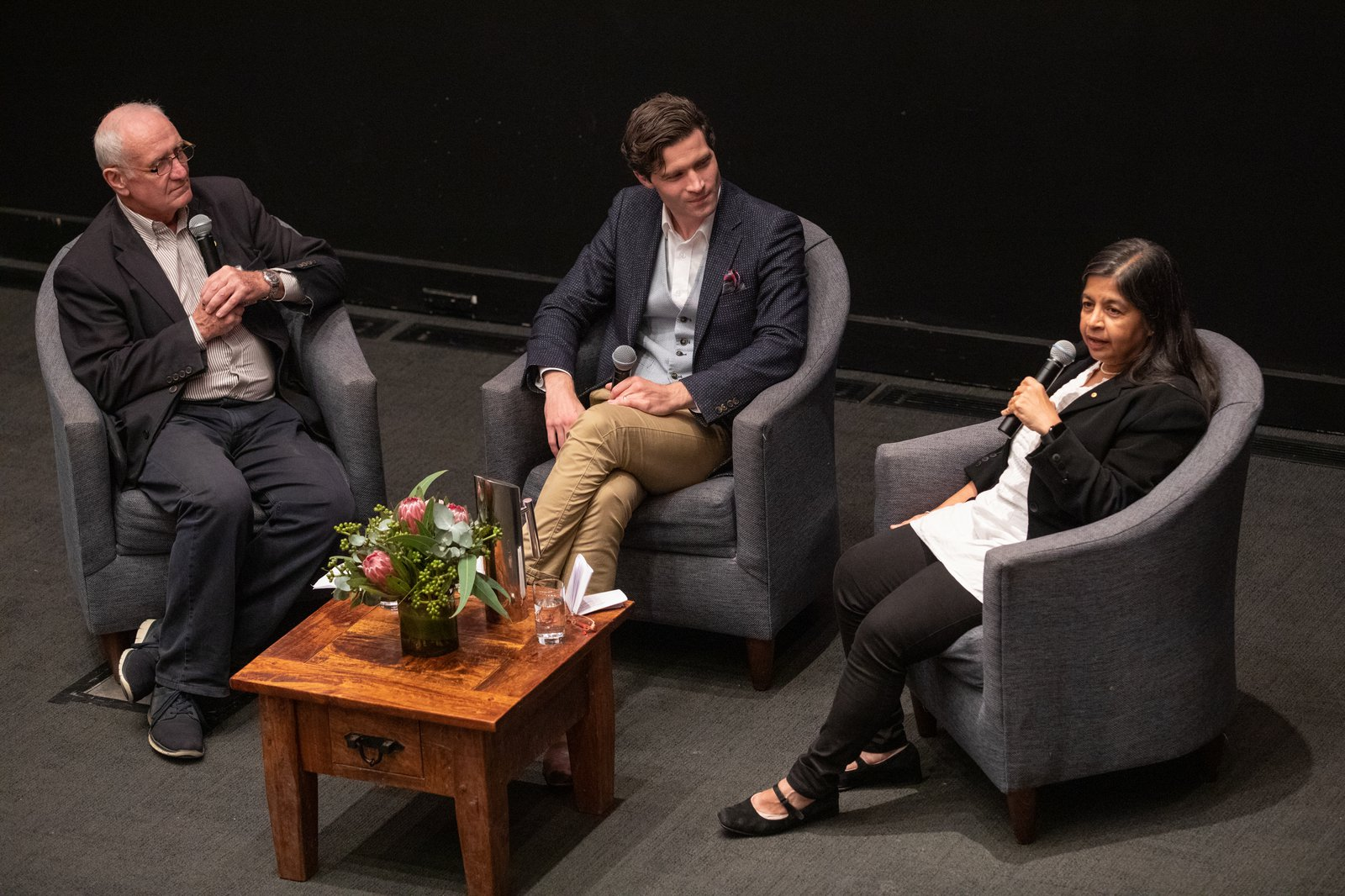 Eureka Prize winners Associate Professor Alan Duffy and Professor Nalini Joshi AO in conversation with Robyn Williams