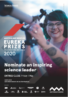 Nominate an inspiring science leader - A3 poster Eureka Prizes