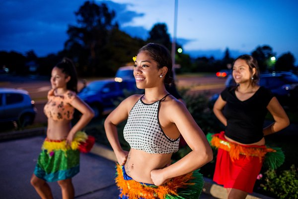 Cook Island dancers, Campbelltown Sydney.  25/3/2015Photo Credit - James Hpran
