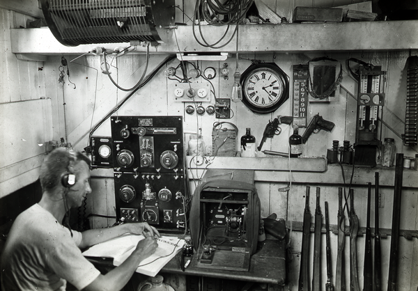 "AMS164/VV03161 Papua. A.R. McCulloch, wireless operator on the ""Eureka"""