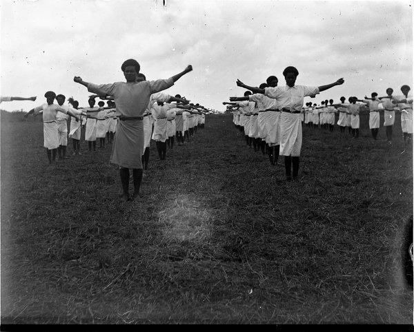 Group parade, Davuilevu Mission School, Fiji