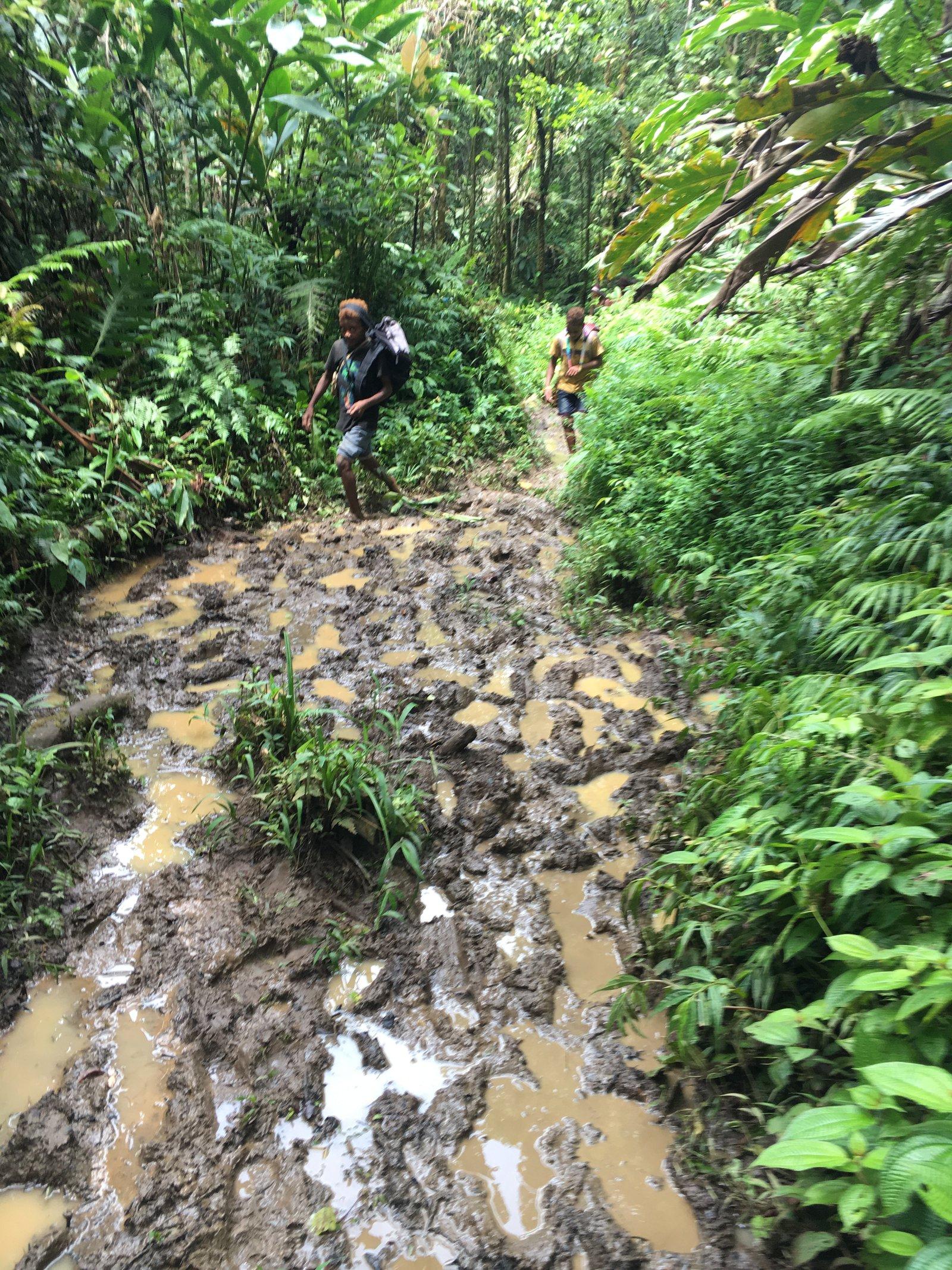 A muddy track in Malaita.