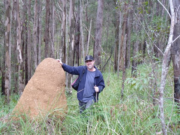 Andrew & a termite mound