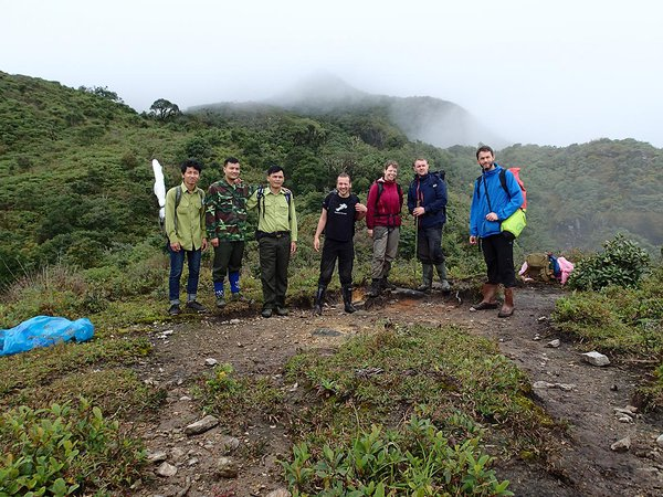 Survey team in northern Vietnam