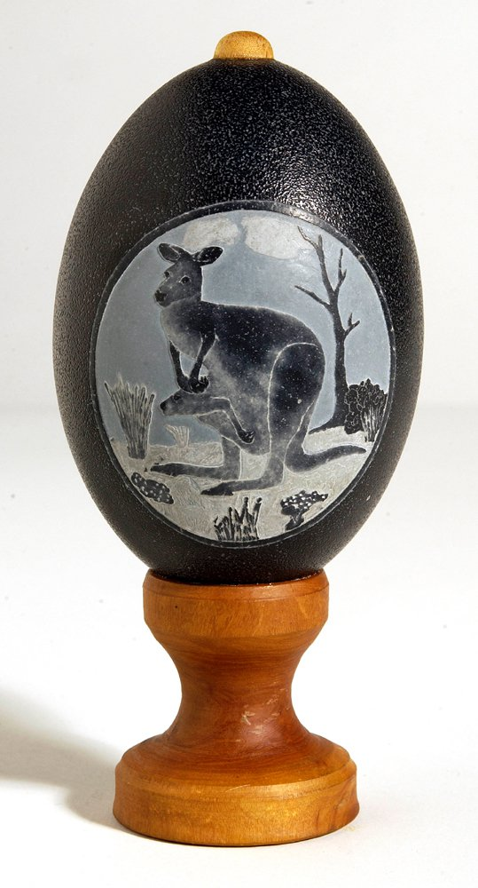 Carved Emu Egg - E092449 Peter Harris