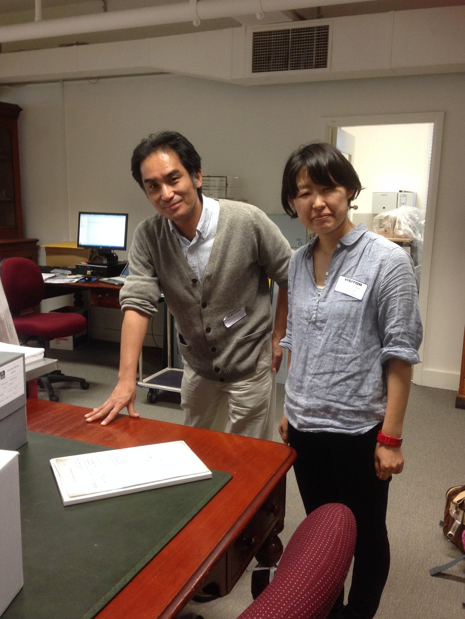 Dr Masaru Kato, Hokkaido University with Sayaka Kobayashi, Yamashina Institute for Ornithology