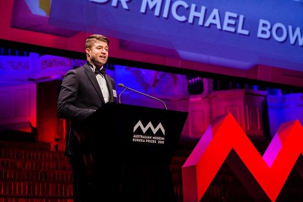 Dr Michael Bowen, 2016 Eureka Prize Winner