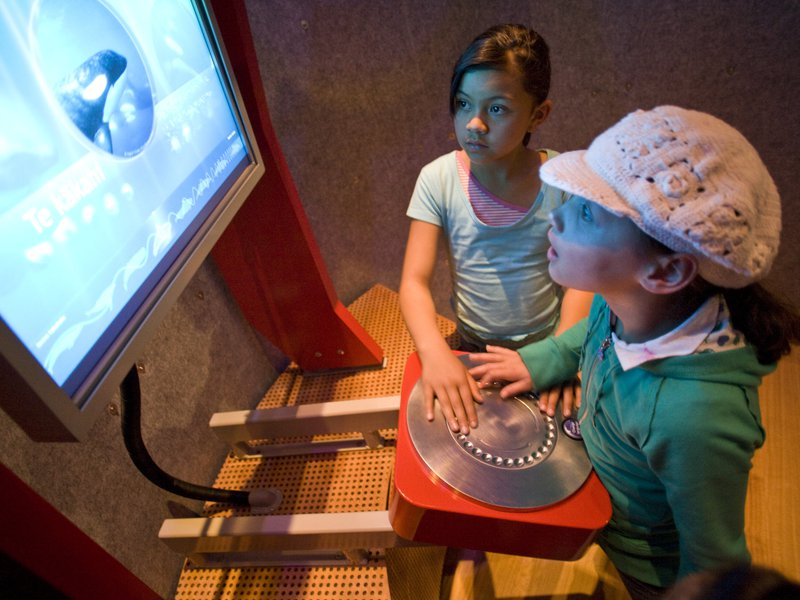 Young visitors in the 'Sound Chamber'