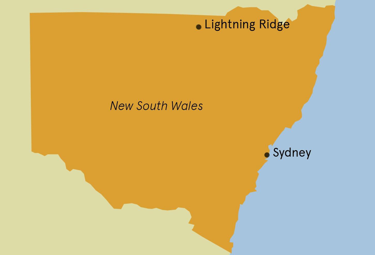 Lightning Ridge Map