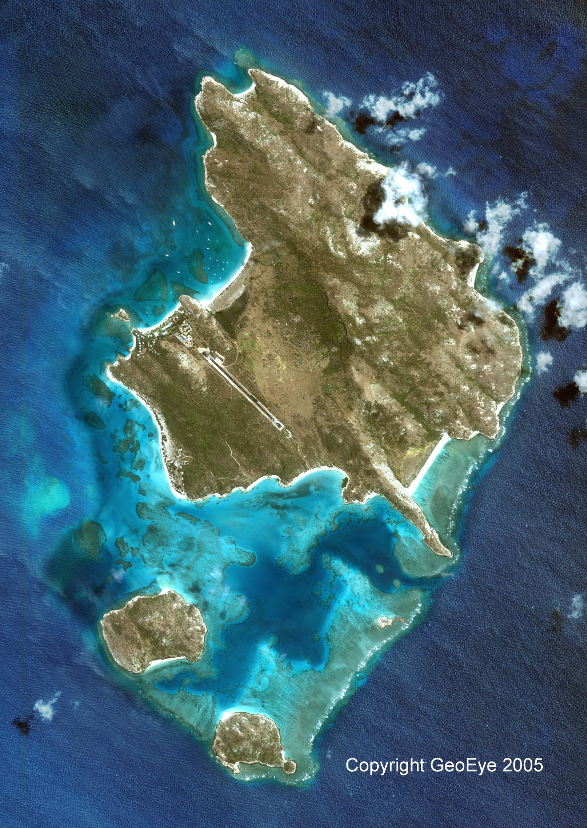 Lizard Island satellite photo