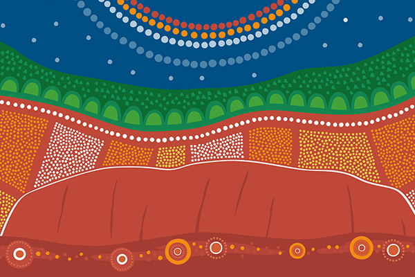 2Detail, official 2019 NAIDOC poster by Charmaine Mumbulla, 'Awaken'
