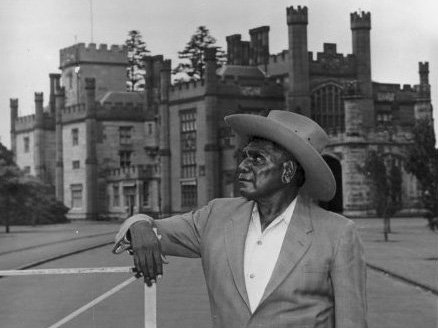 Albert Namatjira at Government House, Sydney