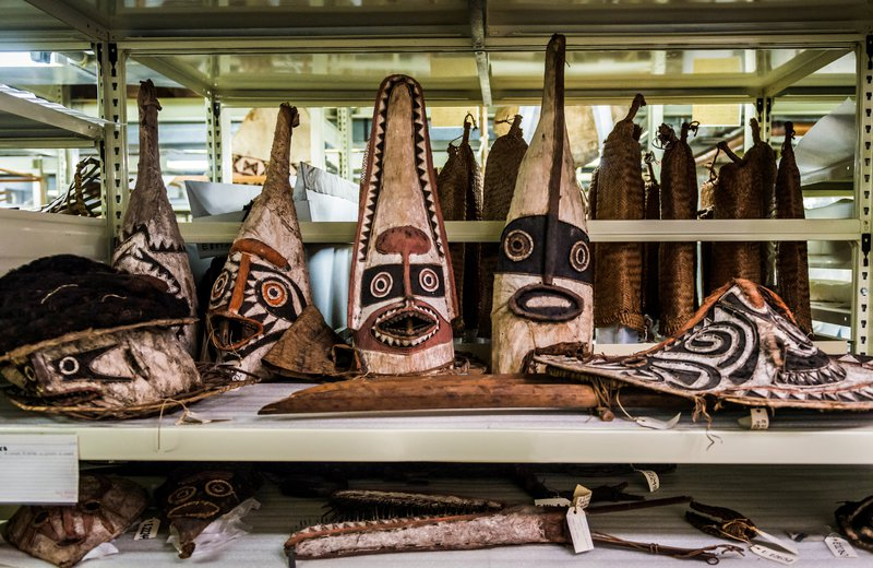 Pacific masks in storage