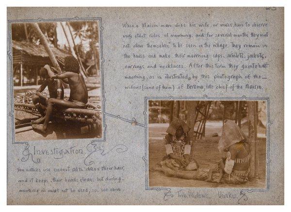 Widows in Mourning, Uiaku, Collingwood Bay, PNG