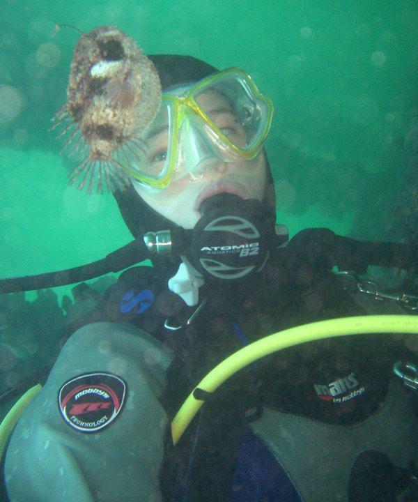 Rachel Arnold with Tasselled Anglerfish