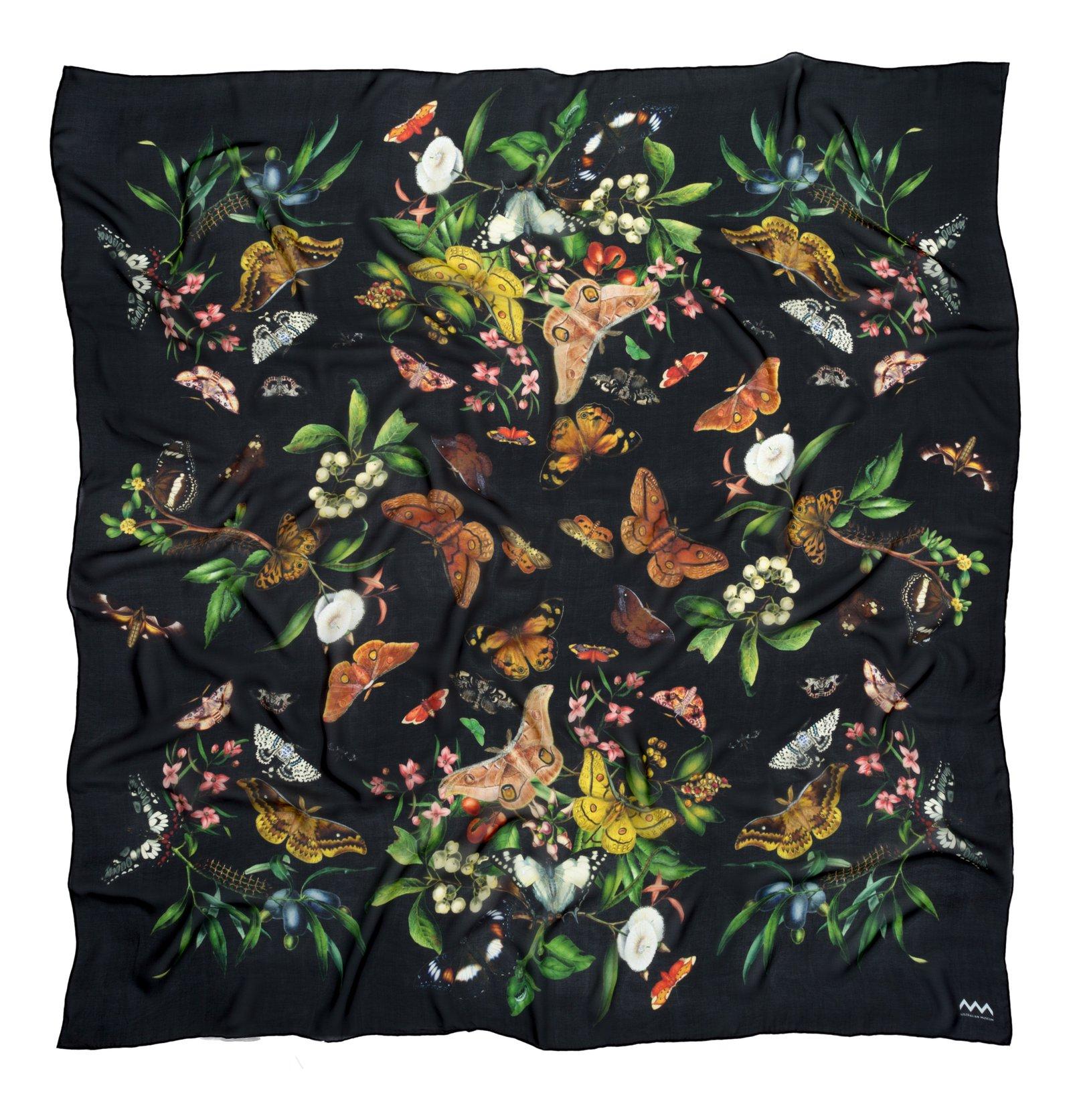 Scott Sisters' silk scarf in black