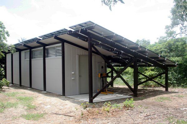 Solar power array at Lizard Island Research Station