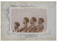 Group portrait of young girls, Collingwood Bay PNG