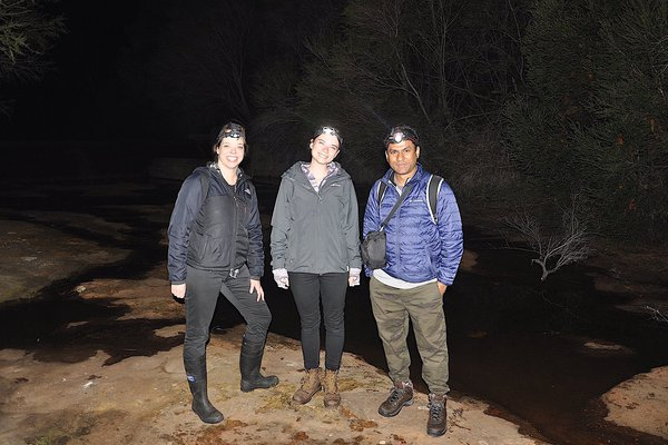Herp team in Dharawal National Park