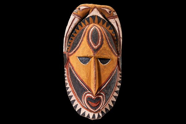 Carved face from Papua New Guinea