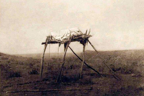'Burial Platform (Apsaroke)'