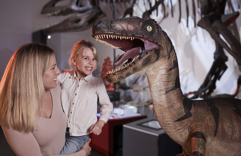 Girl with Dinosaur