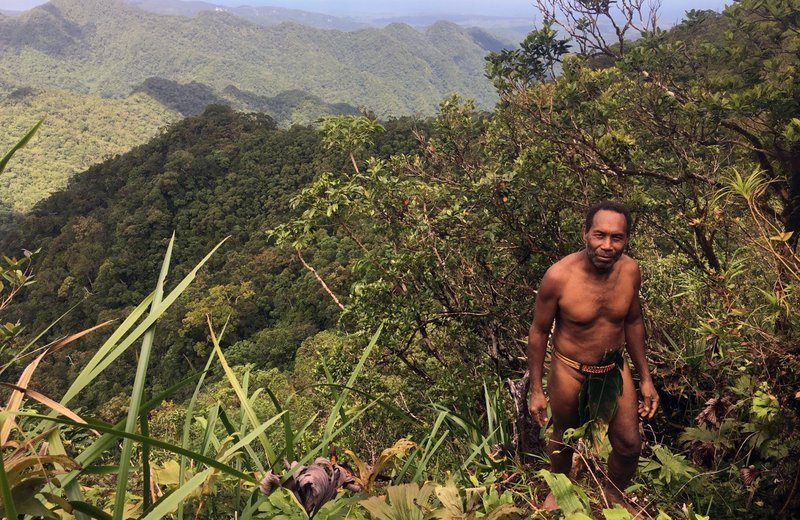 Chief Esau in the forests of Malaita, Solomon Islands