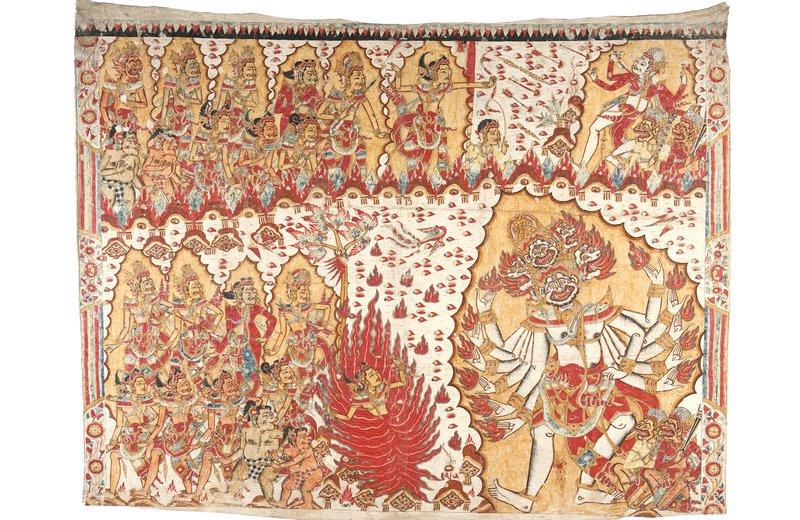 Smaradahana, Balinese painting E76373