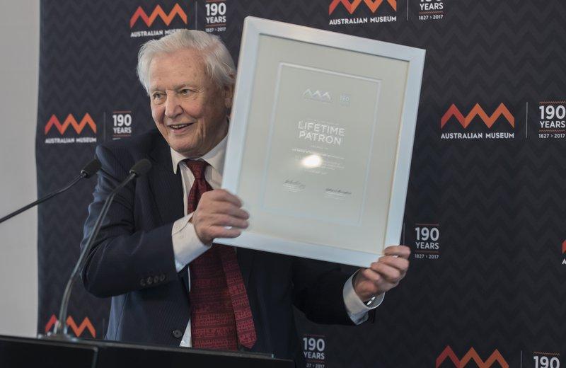 Sir David Attenborough at the AM
