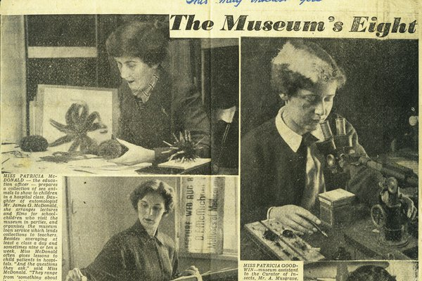 women at the museum