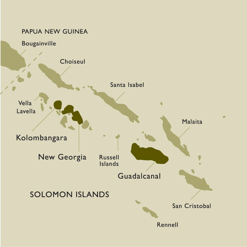 Solomon Islands New Georgia Map