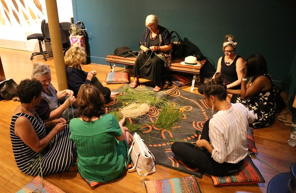 Weaving with Aunty Karleen Green