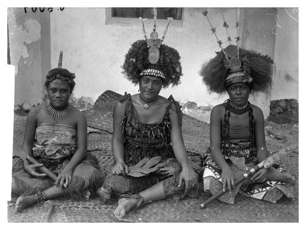 Three young women in Samoa