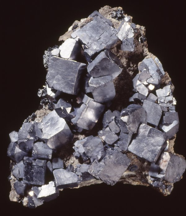 Galena on chert, from Missouri, USA, Chapman Collection